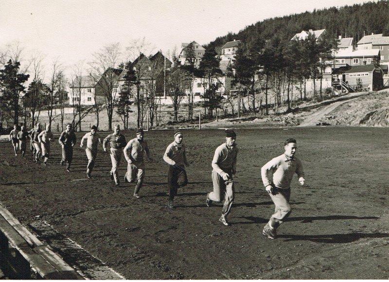 Trening på Nørvebana i 1953.