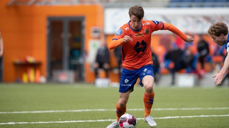 To-målsscorer Kristoffer Ødemarksbakken. Foto: Srdan Mudrinic