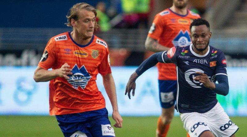 Barstad debuterte i Eliteserien mot Viking i 2017. Foto: NTB Scanpix