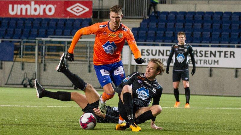 Holmbert Aron Fridjonsson fikk Sparebanken Møres bestemannspris etter kampen mot Sogndal. Nå er islendingen klar for å møte Levanger borte. Foto: Srdan Mudrinic