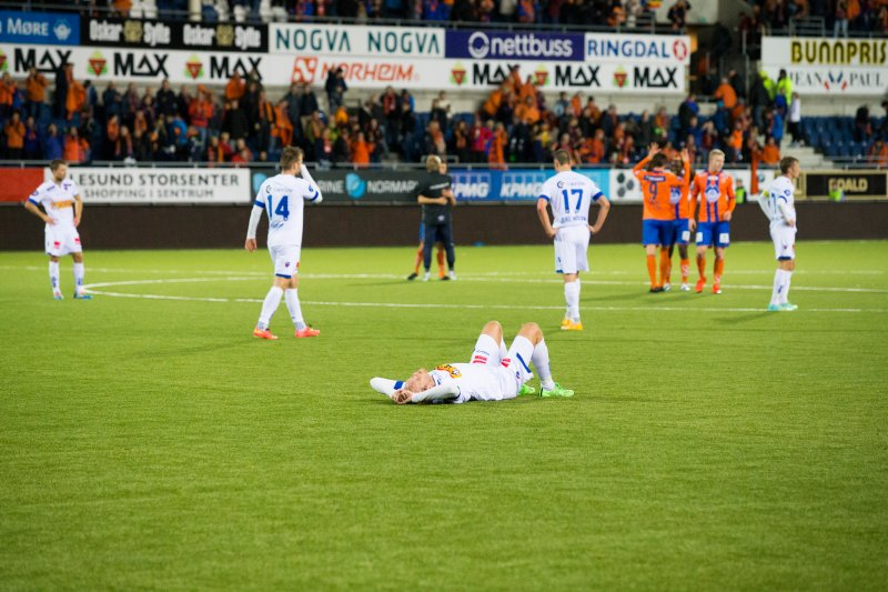 Fra AaFKs 2-1 seier mot Sandefjord i 2015. Foto: NTB Scanpix