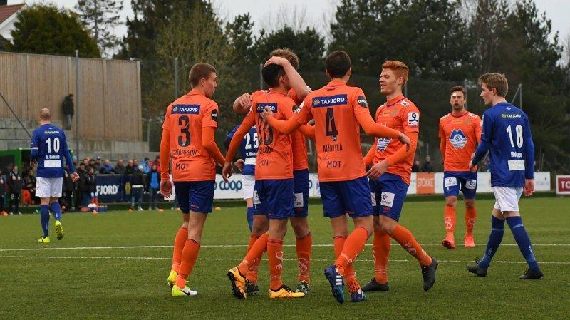 AaFK feirer seier mot SK Herd i første runde. Foto: AaFK