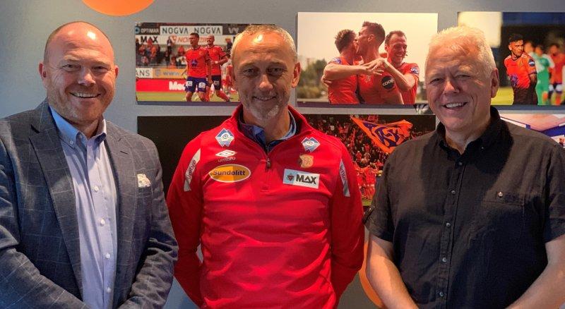 Lars Ove Valaas-Breivik hos COOP(tv), Lars Bohinen og Geir Espe hos COOP