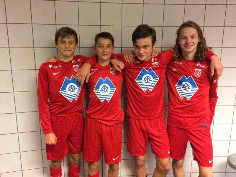 Mats Helle, Syver Skeide, Lars Ramstad og Elias Erstad laget målene i seieren mot NFF Trøndelag.