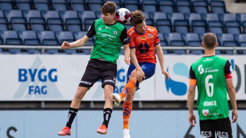 Fotball , 15 Mai 2021 , OBOS-ligaen, AaFK - Bryne, Bjarne Langeland , Kristoffer Ødemarksbakken, Foto: Srdan Mudrinic, Digitalsport