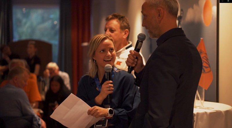 Partneransvarlig Sarah Isabella Aarøe under det faste intervjuinnslaget på VIP-en.