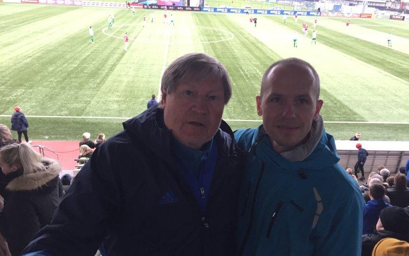 Bjørn Erik Melland setter pris på samarbeidet med Reidar Vågnes. Her fra et besøk på Island tidligere denne sesongen.