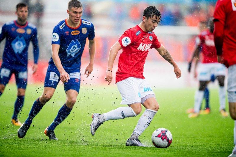 Niklas Castro møtte AaFK som Kongsvinger-spiller i 2018. Foto: Jon Olav Nesvold / BILDBYRÅN