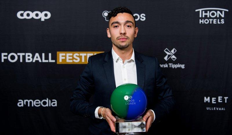 Niklas Fernando Nygaard Castro kåret til årets spiller i Obos-ligaeni 2019. Foto: Vegard Wivestad Grøtt / BILDBYRÅN