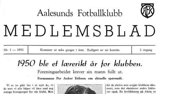 Medlemsblad forside 1951