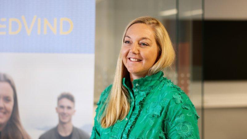 Linda Strømmen fra Sparebanken Møre ser frem til å være en del av Medvind.